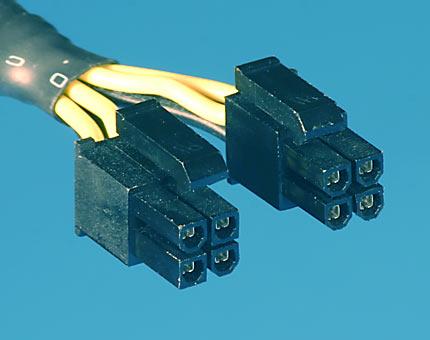 конектори на захранване видеокарта и процесор