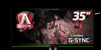 Извит геймърски монитор AOC AGON 35 G