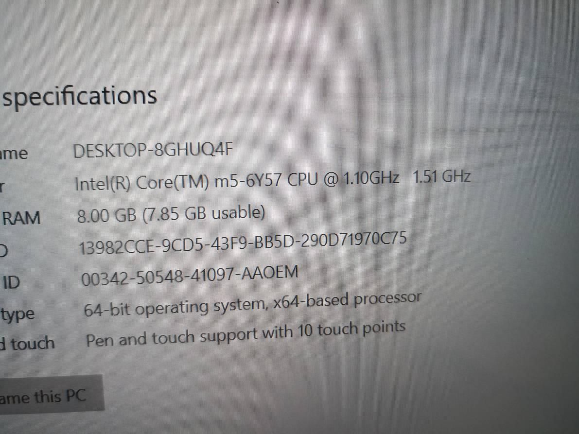 dell 7275 процесор и памет
